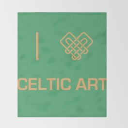 I heart Celtic Art Throw Blanket