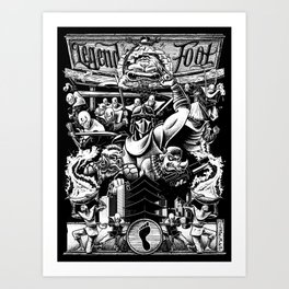 Legend Of The Foot Art Print