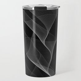 Black and White Flux #minimalist #homedecor #generativeart Travel Mug