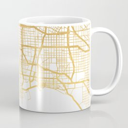 LOS ANGELES CALIFORNIA CITY STREET MAP ART Coffee Mug