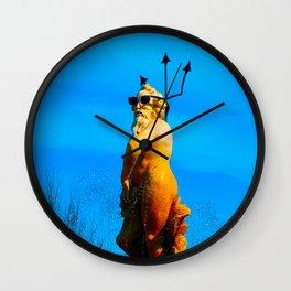 Photoshopped Hypster Poseiden Wall Clock
