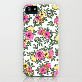 Spring Bunch Watercolor iPhone Case