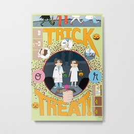 Trick or Treat (print) Metal Print