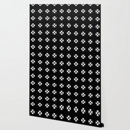 heart 9 – Heart flower – Black and white. Wallpaper