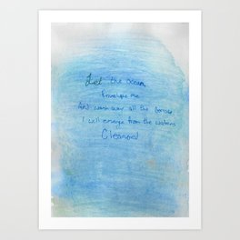 Ocean Cleanse Art Print