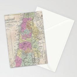 Vintage Map of Palestine (1853) Stationery Cards