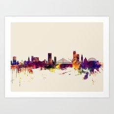 Liege Belgium Skyline Art Print