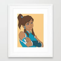 korra Framed Art Prints featuring Korra by Nicky Severein