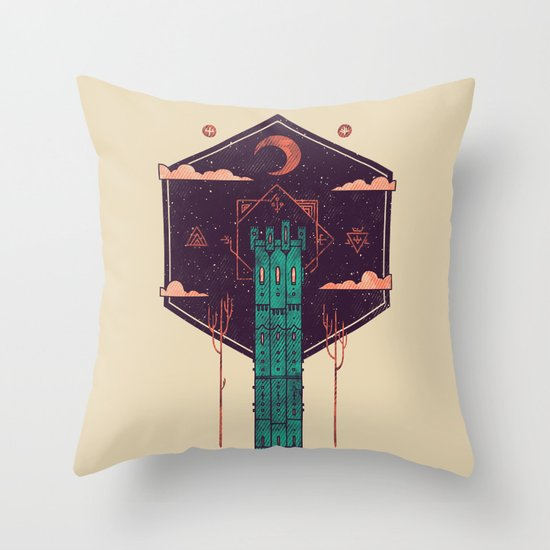 The Tower Azure Throw Pillow
