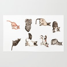 For cat lovers - watercolor of different cat breeds Rug