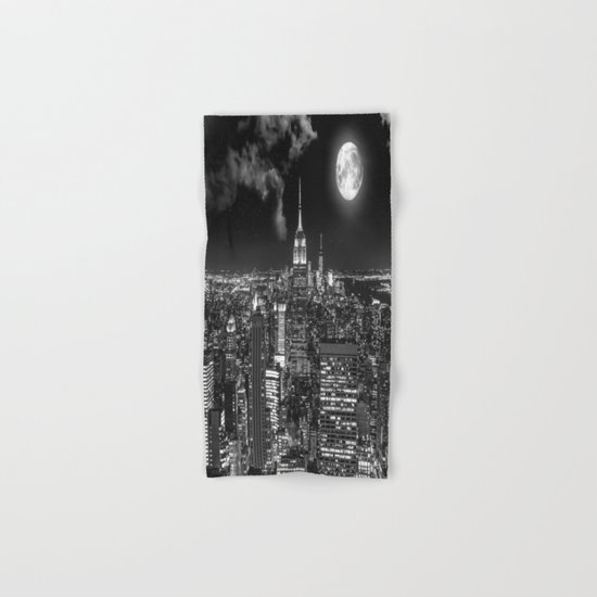 New York Under the Moon Hand & Bath Towel