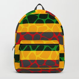 African Giraffe Multicolor Animal Print Backpack