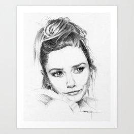 Elizabeth Olsen Art Print