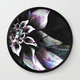 Fluid Nature - Marbled Flower Wall Clock