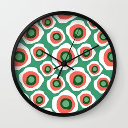 Fried Circles, Minty Yam Wall Clock