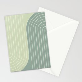 Two Tone Line Curvature XXX Stationery Cards