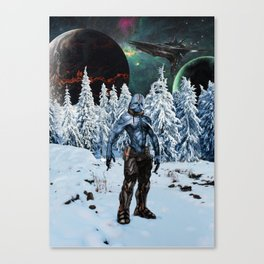 Visitor from Outer Space Canvas Print