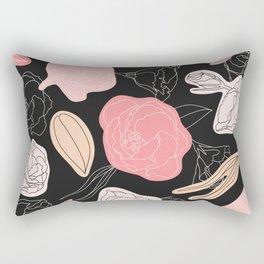 ROSES MODERN FLORAL Rectangular Pillow