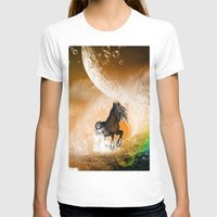 running T-shirts featuring Running horse by nicky2342