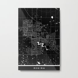 Regina - Minimalist City Map Metal Print