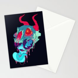 pink skull goop Stationery Cards