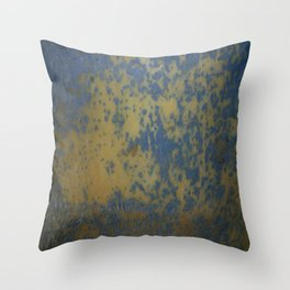 Bottom's Up Series Blue and Yellow Throw Pillow