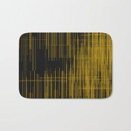 Golden lines over black background Bath Mat