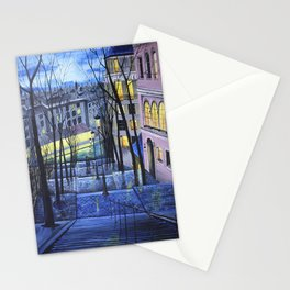 Rainy evening in Amsterdam Stationery Cards