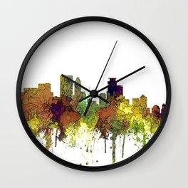 Minneapolis, Minnesota Skyline SG - Safari Buff Wall Clock