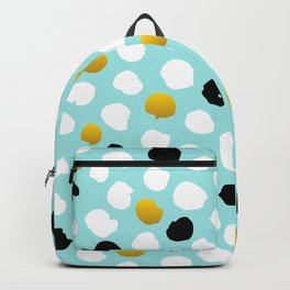 pois noirs blancs or Backpack