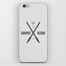 Graphic Design For Life. iPhone & iPod Skin