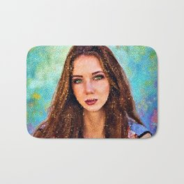Green-eyed Girl - Portrait - Jéanpaul Ferro Bath Mat