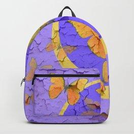 OLD YELLOW BUTTERFLIES &  LILAC WALLPAPER MODERN ART  f Backpack