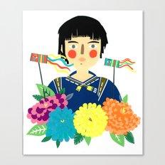 Flower Kite Canvas Print