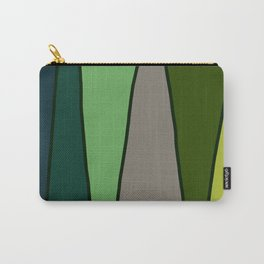 Green Abstract Pattern Turtle Carry-All Pouch