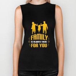Cute Family Is Always There For You Supportive Biker Tank