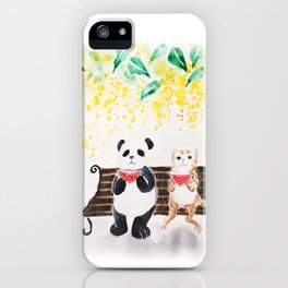 Summer / watercolor iPhone Case