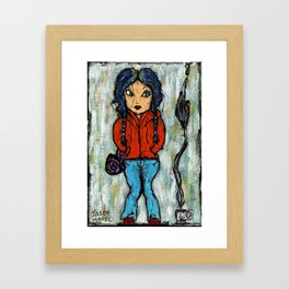 CLEMENTINE - MEET ME IN MONTAUK Framed Art Print