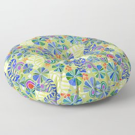 Nasturtiums and Rainbows Floor Pillow