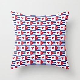 Flag of Cuba 3 -cuban,havana, guevara,che,castro,tropical,central america,spanish,latine Throw Pillow
