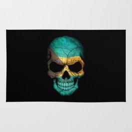 Dark Skull with Flag of Bahamas Rug