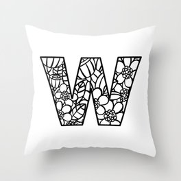 Letter W Throw Pillow