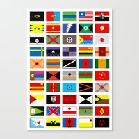 deathstroke Canvas Prints featuring SH as flags by Fabian Gonzalez