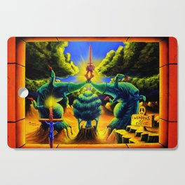 Trippy Psychedelic Surrealism - Weapons of Choiceby Vincent Monaco Cutting Board