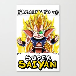 Training to go super saiyan - Raditz Canvas Print
