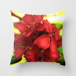 """Flowers in Your Hair"" Throw Pillow"