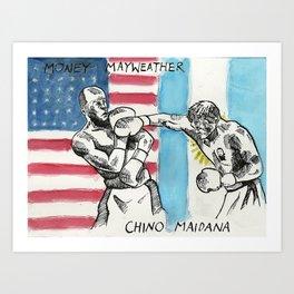 Money Mayweather vs Chino Maidana promo poster Art Print