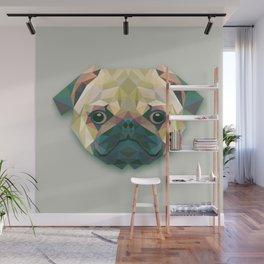 Geometrical Pug - Pug Dog Cute Wall Mural
