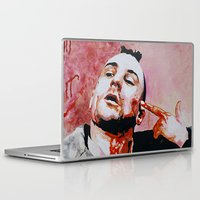 taxi driver Laptop & iPad Skins featuring Taxi driver by BaconFactory