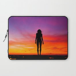 silhouette photography of a woman Laptop Sleeve